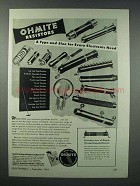 1943 Ohmite Resistors Ad - Type and Size for Every Need