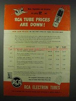 1943 RCA Electron Tubes Ad - Prices Are Down