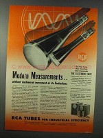 1943 RCA Cathode Ray Tubes Ad - Measurements