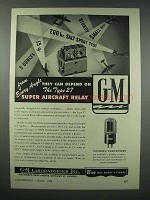 1943 G-M Type 27 Super Aircraft Relay Ad