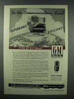 1943 G-M Type 29 Relay Ad - Communications Field