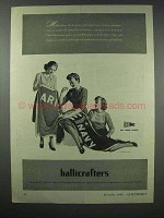 1943 Hallicrafters Radio Ad - Army Navy Production