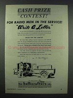1943 Hallicrafters SCR-299 Communications Truck Ad