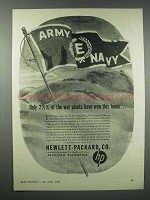 1943 Hewlett-Packard Ad - War Plants Won This Honor