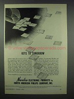 1943 Norelco Electronics Ad - Keys to Tomorrow