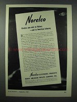 1943 Norelco Electronics Ad - New Aids to Victory