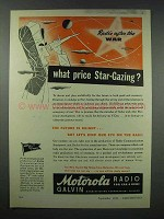 1943 Motorola Radio Ad - What Price Star-Gazing
