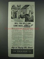 1943 Mennen War Bonds Ad - Help Him Come Back Alive