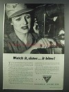 1943 Better Vision Institute Ad - Watch it, Sister
