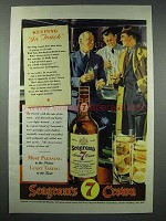 1943 Seagram's 7 Crown Whiskey Ad - Keeping in Touch
