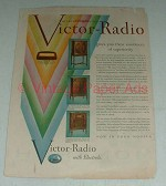 1929 Victor Radio Ad - R-52, RE-45, R-32 - Superiority