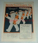 1920 Beech-nut Ginger Ale Soda Ad - Great
