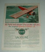 1930 Valvoline Motor Oil Ad - At Home and Abroad