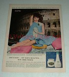 Vintage Pond's Cold Cream Ad w/ Elsa Martinelli