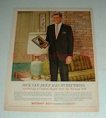 Vintage Botany 500 Custom Royal Suit Ad, Dick Van Dyke