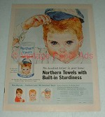 Vintage Northern Paper Towels Ad - Sturdiness, Boy