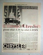 1930 Chrysler 77 Town Sedan Car Ad - Proves What it Is