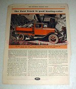 1931 Ford Heavy Hydraulic Dump Truck Ad - Good Hauling