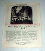 1923 Packard Single-Six Car Ad - Trust Your Thoughts