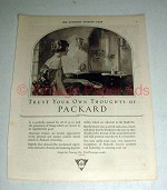 1923 Packard Car Ad - Trust Your Own  Thoughts