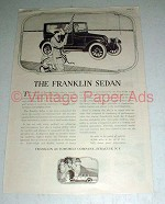 1919 Franklin Sedan Ad - NICE!