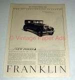 1927 Franklin 25th Anniversary Car Ad - Distinguished