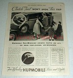 1931 Hupmobile Car Ad - Clutch Foot Won't Spoil