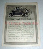 1916 Franklin Car Ad - NICE