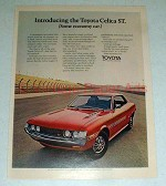 1971 Toyota Celica ST Car Ad - Some Economy Car!