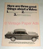 Vintage Volvo Car Ad - Three Good Things