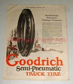1923 Goodrich Semi-Pneumatic Truck Tire Ad - Challenges