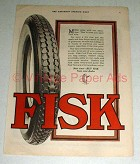 1920 Fisk Tire Tires Ad - NICE!