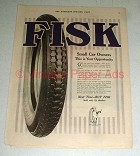 1920 Fisk Tires Ad - This is Your Opportunity!