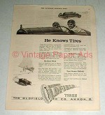 1921 Barney Oldfield Tire Ad - He Knows Tires!