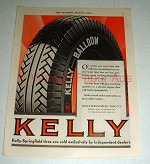 1930 Kelly Springfield Tire Tires Ad - Sold Exlusively!