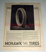 1921 Mohawk Tires Ad - Mileage has been Increased