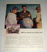 1947 US Army Recruiting Service Ad - Measure Up to Men
