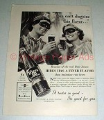 1937 Hires Rootbeer Soda Ad - Can't Disguise Flavor
