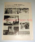 1937 Studebaker Coupe Car Ad - Clyde Beatty, Clowns!
