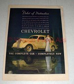 1937 Chevrolet Car Ad - Debut of Distinction!