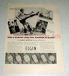 1937 Elgin Watch Ad - UVA Football Captain Harry Martin