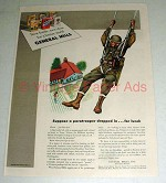 1943 WWII General Mills Cereal Ad - Paratrooper