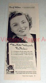 1943 Max Factor Face Powder Ad w/ Cheryl Walker