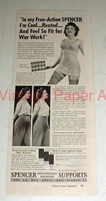 1943 Spencer Support Ad - Feel Fit for War Work!