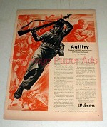1943 WWII Wilson Sports Equipment Ad - Agility