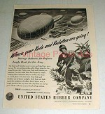 1943 WWII US Rubber Company Ad - Barrage Balloons