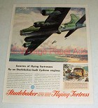 1943 WWII Studebaker Flying Fortress Plane Ad!