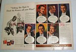 1944 WWII Victor Records Ad, Allan Jones, Hans Kindler