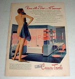 1944 Cannon Towels Ad w/ Nude Woman - Room w/ View!