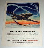 1944 WWII North American Aviation Ad - P-51 Mustang